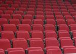 馆内红色座椅