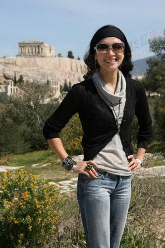 搜狐火炬手章子怡在希腊